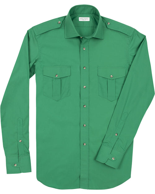 Slim-Fit Safari Sport Shirt