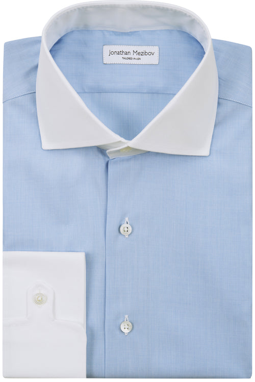 Tailored-Fit Carmichael Light Blue End-On-End Dress Shirt