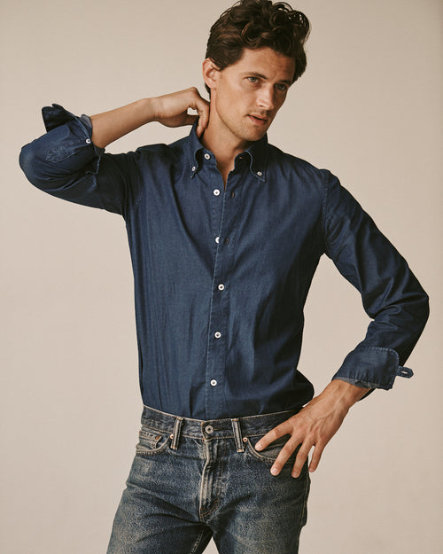 Slim-Fit Gordon Denim Shirt
