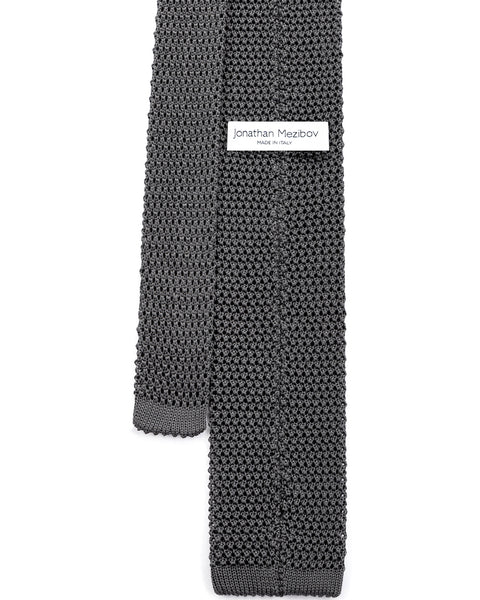 Grey Classic Knitted Tie