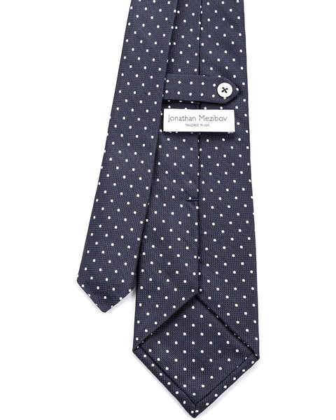 Dotted Silk Jacquard Tie