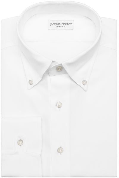 Classic-Fit Lewis White Fine Oxford Dress Shirt