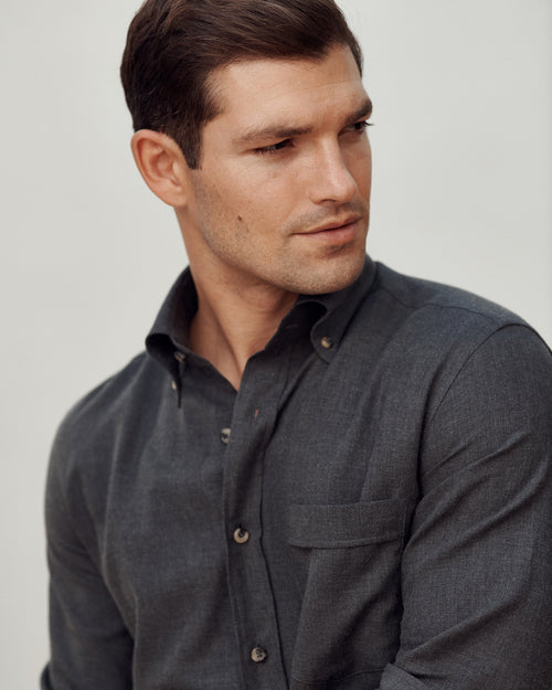 Gordon Cotton-Cashmere Sport Shirt