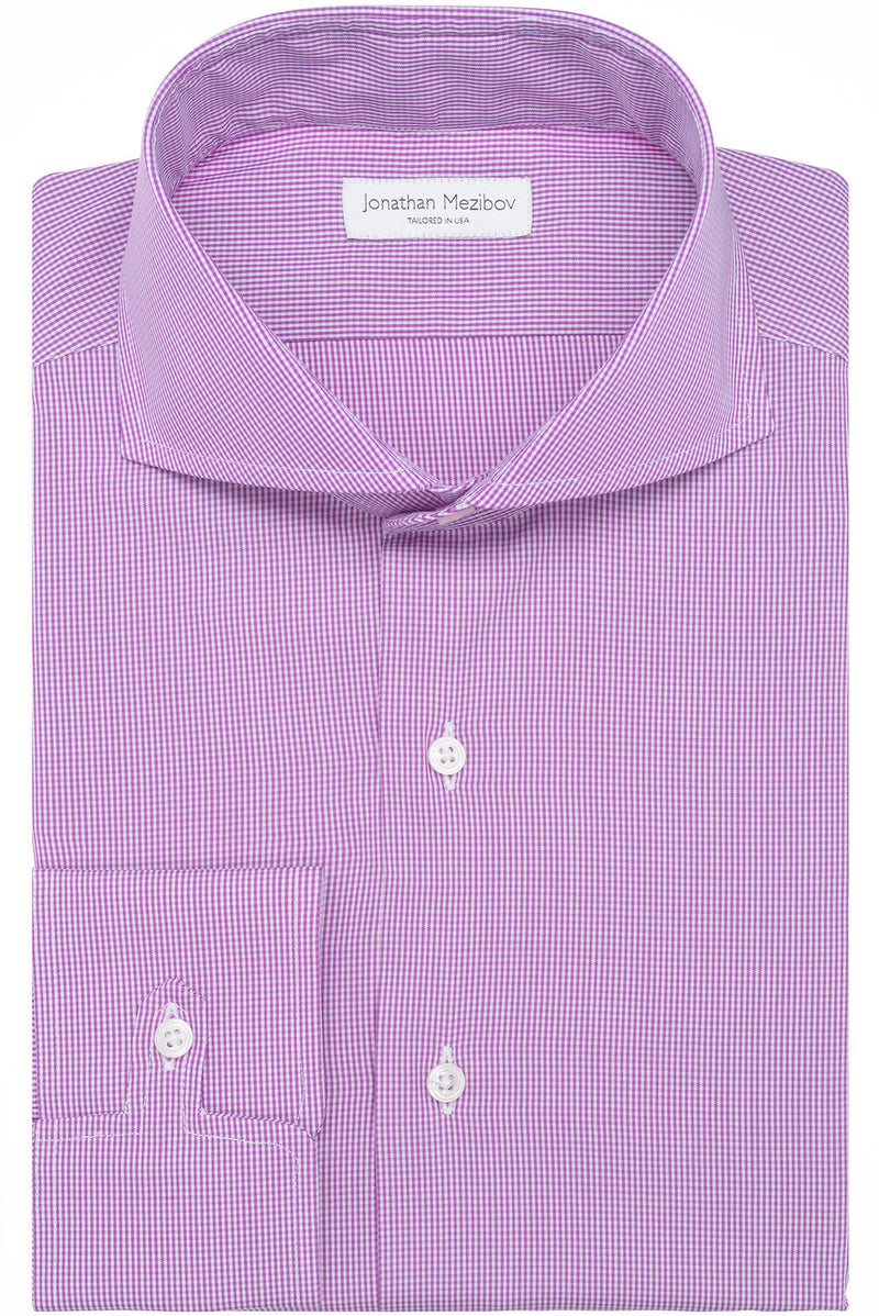 Jonathan Mezibov Tailored-Fit Pearson Checked Dress Shirt.