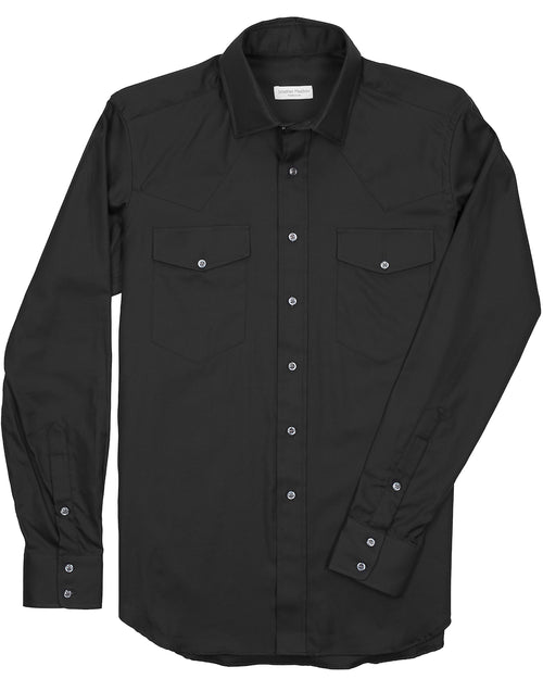 Tailored-Fit Twill Western Sport Shirt