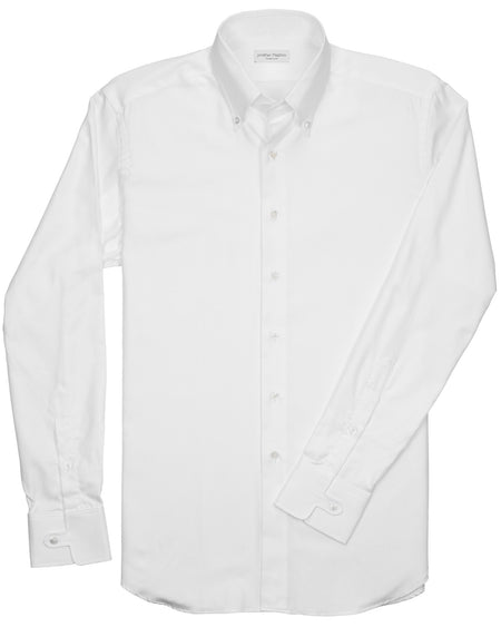 Slim-Fit Banded Collar Checked Sport Shirt