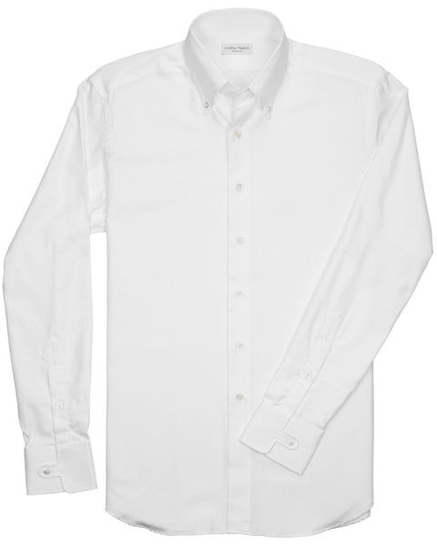 Tailored-Fit Gordon White Twill Sport Shirt