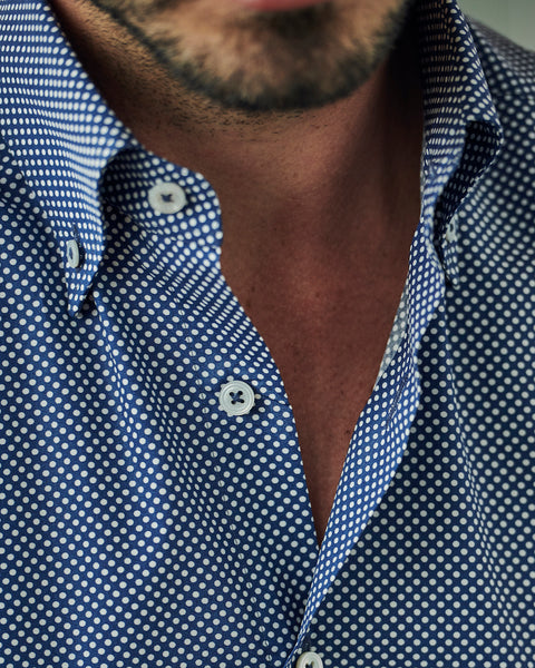 Gordon Polka Dot Sport Shirt