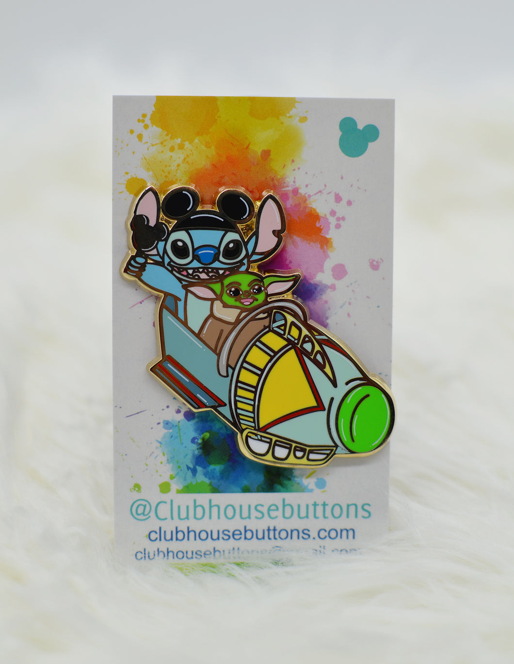 Stitch and Baby Astro Orbiter Pin