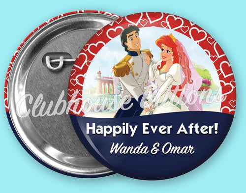 Ariel & Prince Eric Happily Ever After Button