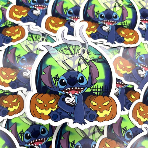 Stitch Nightmare Before Christmas Magnet