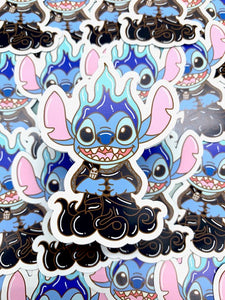 Stitch Hades Sticker or Magnet