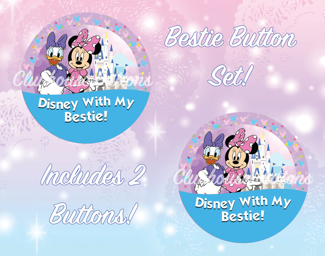 Minnie and Daisy Best Friend Disney Buttons