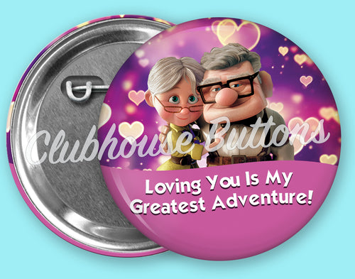 Carl and Ellie Valentine's Day Button