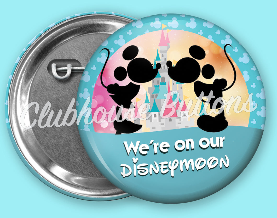 MICKEY AND MINNIE- DISNEYMOON BUTTON