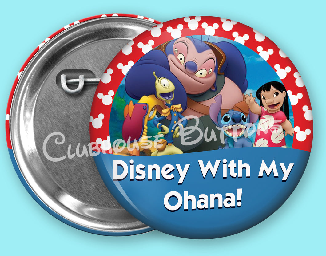 Disney With My Ohana Button