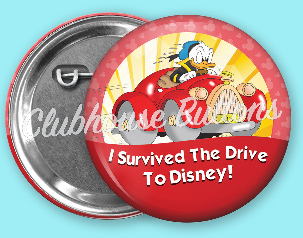 Donald Drive To Disney Button