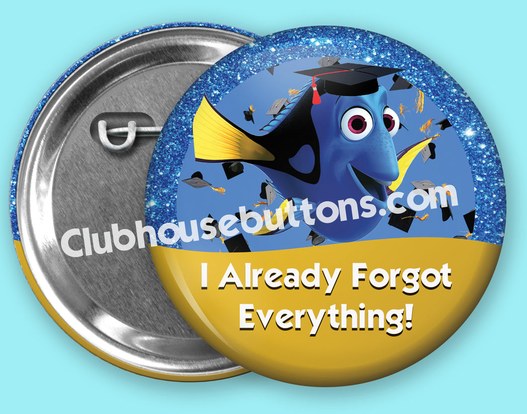 Dory Graduation Button