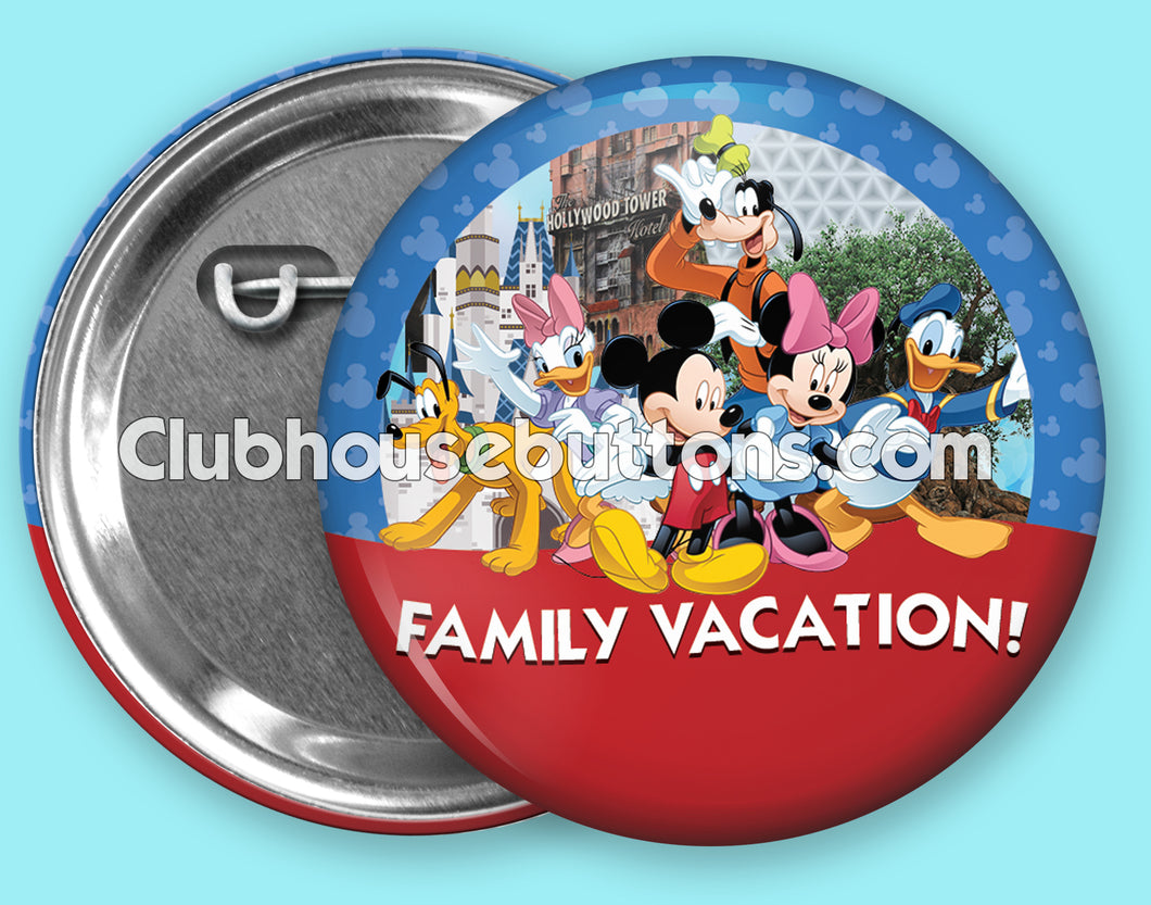 Family Vacation Button