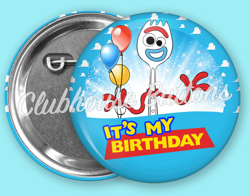 Forky Birthday Button