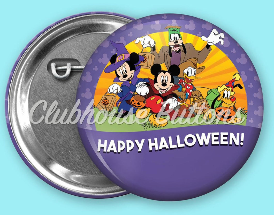 Mickey and Friends Happy Halloween Button