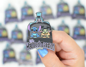 Stitch and Baby Haunted Mansion B-Grade Pin