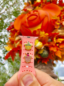 Mickey & Minnie Pumpkin Watch Band Charms