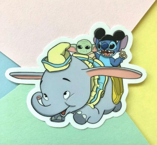 Stitch Baby Dumbo Sticker