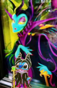 Maleficent Stitch Pin