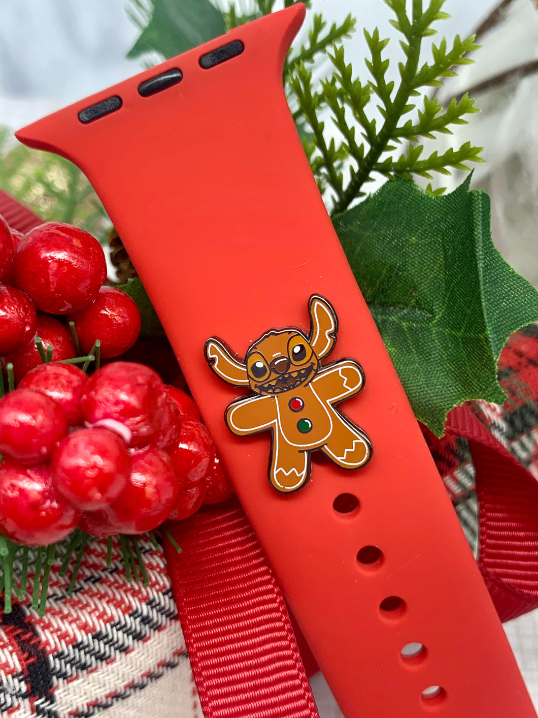 Gingerbread Stitch Watch Band Charm