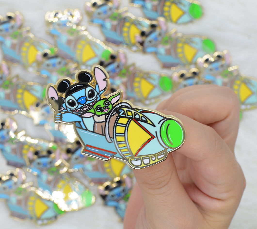Stitch and Baby Astro Orbital B-Grade Pin