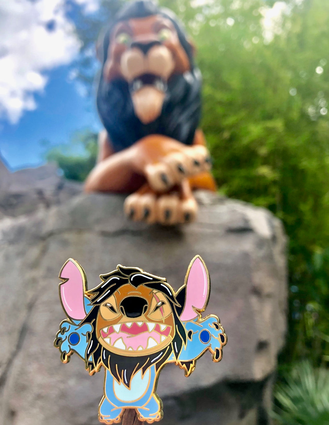 Stitch Scar Lion King Pin