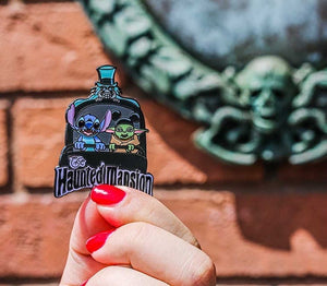 Stitch and Baby Haunted Mansion Pin