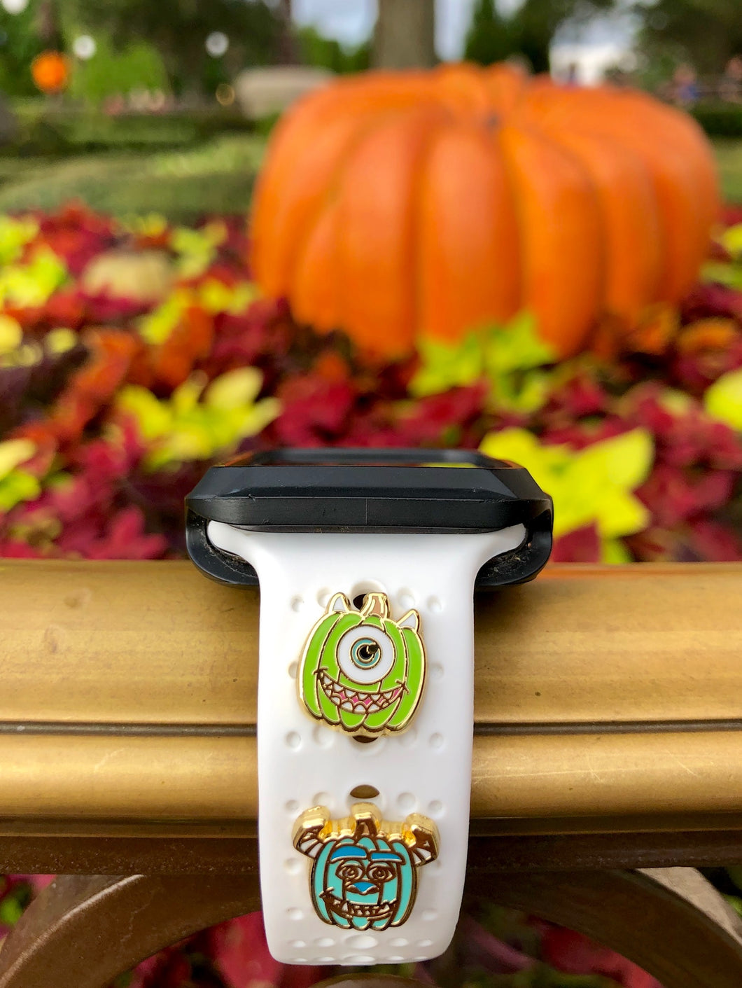 Mike Wazowski and Sully Pumpkin Watch Band Charms