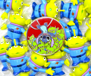 Green Aliens and Stitch Pin