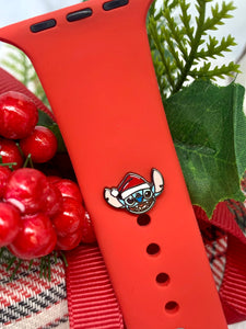Santa Stitch Watch Band Charm