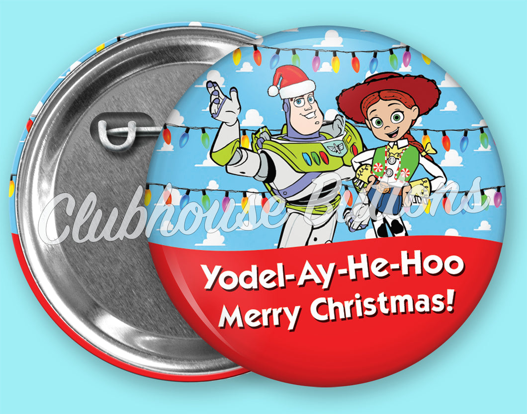 Buzz and Jessie Christmas Button