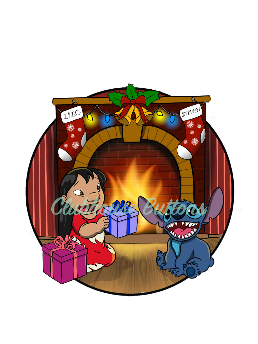 PRE-SALE Lilo and Stitch Christmas Pin