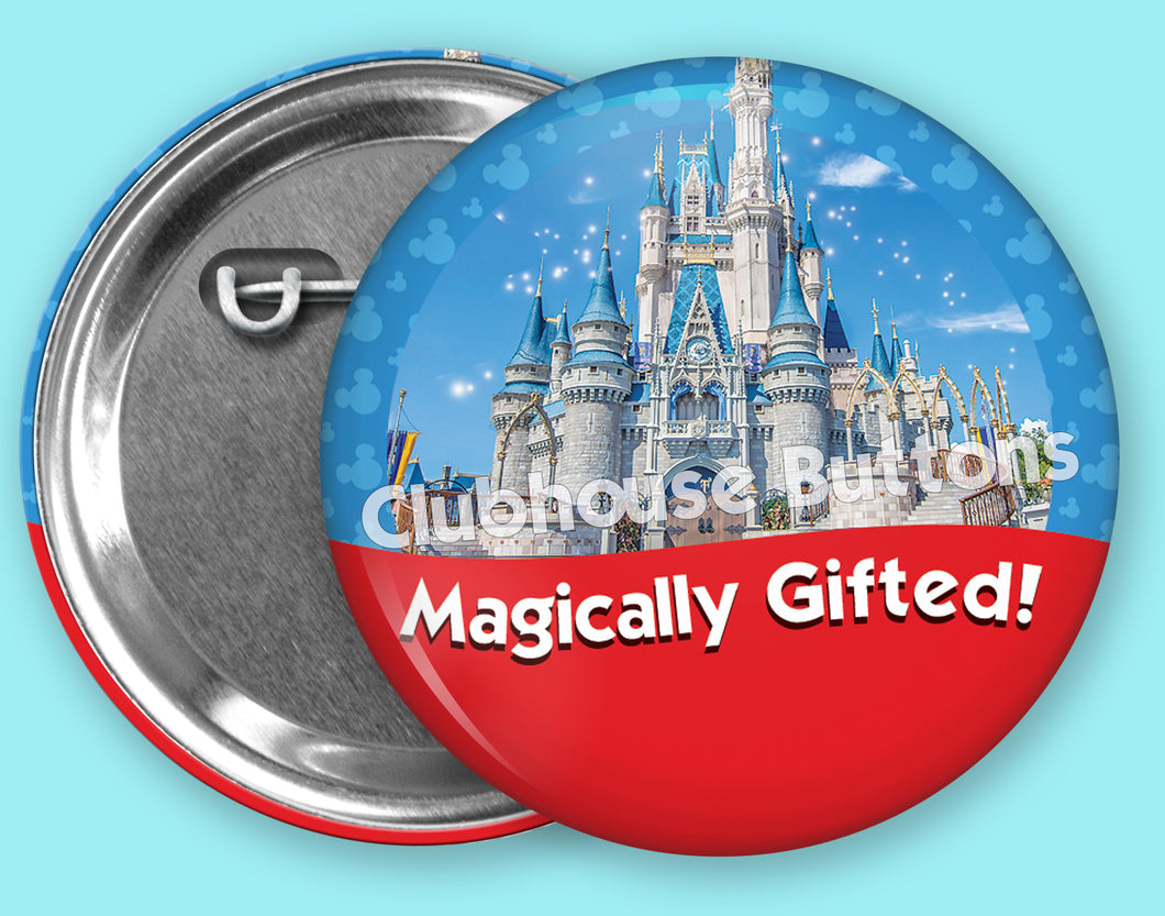 Magically Gifted Castle- Walt Disney World Button