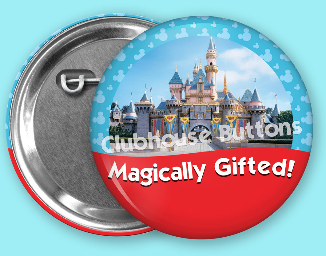 Magically Gifted Castle- Disneyland Button