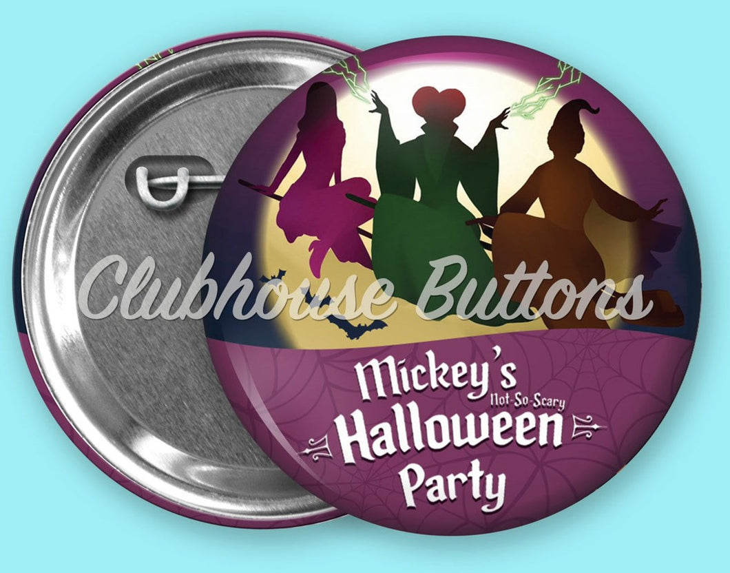 Sanderson Sisters - Mickey's Halloween Party Button
