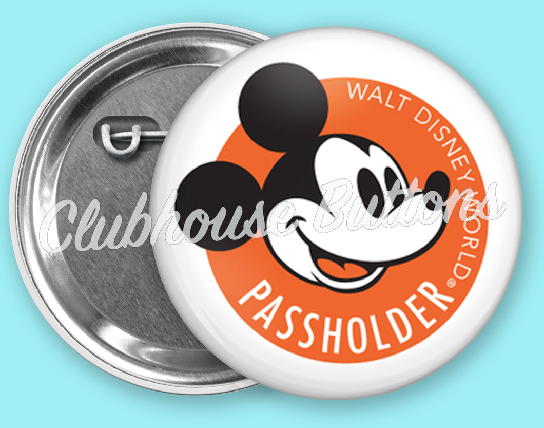 Mickey Passholder Button