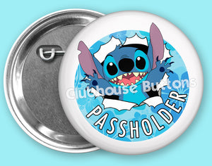 Stitch Passholder Button