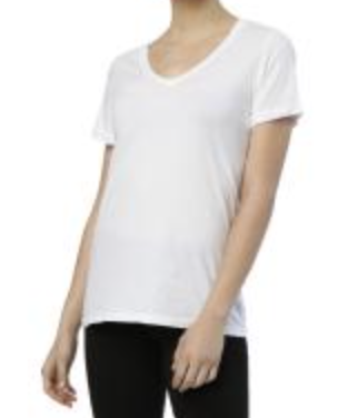 Roll sleeve V Neck