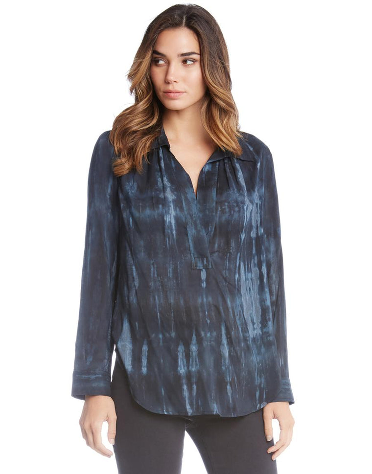 Long Sleeve Open Placket top