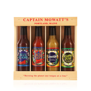 The best hot sauce. The most popular hot sauce.  Captain Mowatt's - Hot sauce gift pack