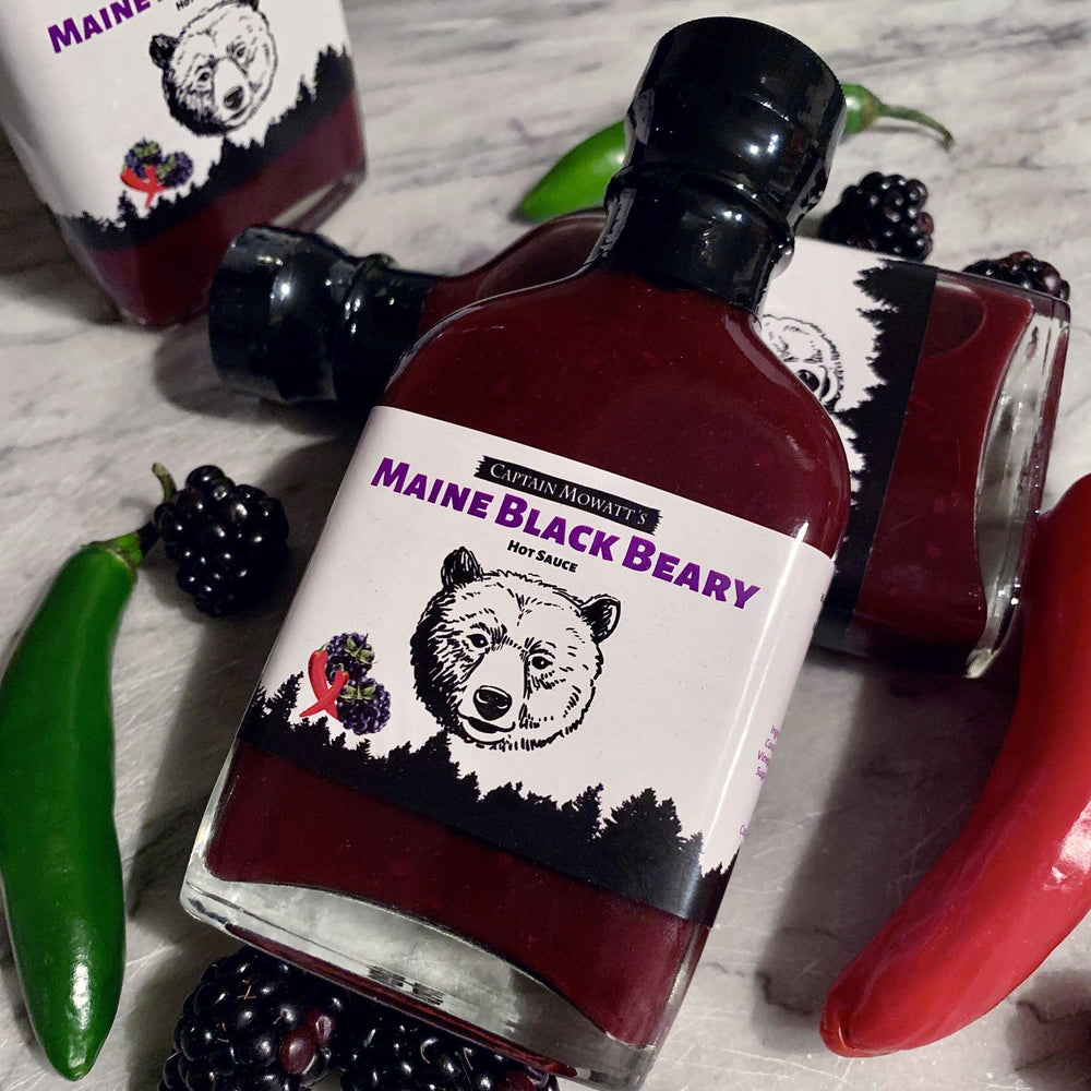 The best hot sauce. The most popular hot sauce.  Maine blackberry hot sauce, fruity hot sauce, the best