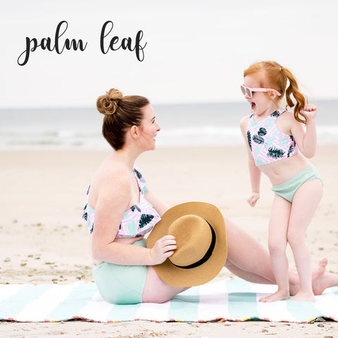 Mother Daughter matching UV Swimwear.  Perfect mommy and me swimwear by SwimZip