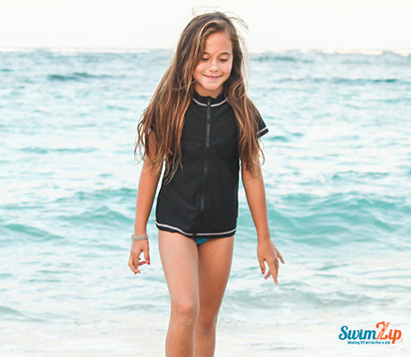 Girls Light Weight Rash Guard Cover Up