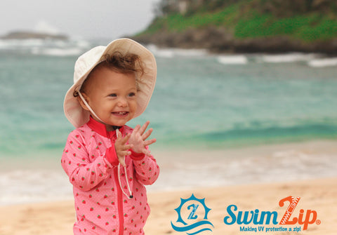 Baby Sun Hat with Chin Strap